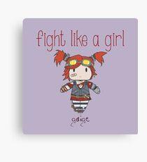 Fight Like a Girl | Robot Maker Canvas Print