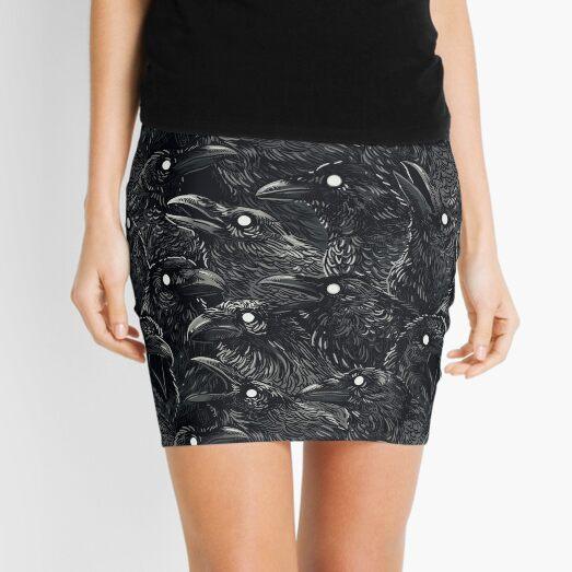 Raven pattern 2 Mini Skirt