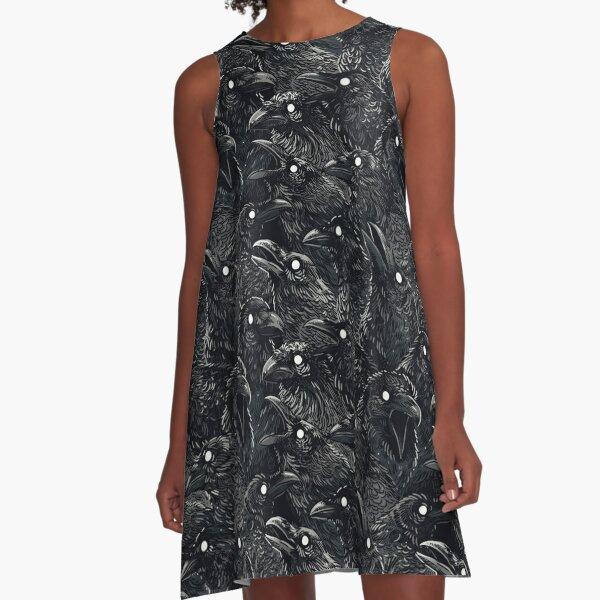 Raven pattern 2 A-Line Dress