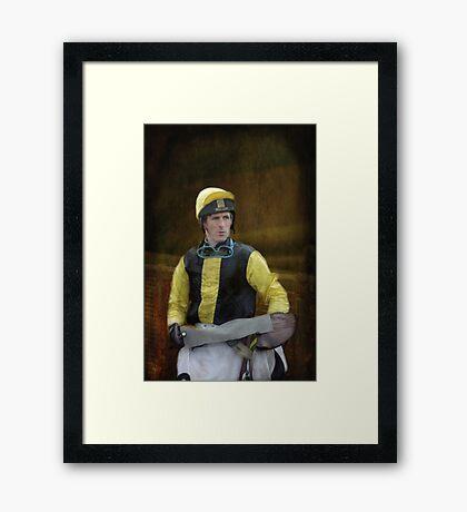 Portrait of a Jockey  Framed Print