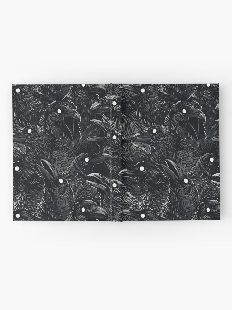 Alternate view of Raven pattern 2 Hardcover Journal