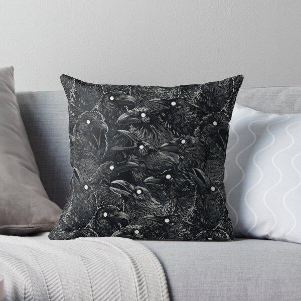 Raven pattern 2 Throw Pillow