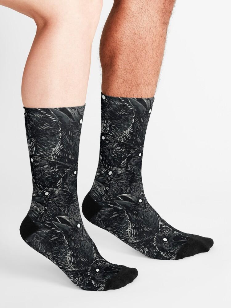 Alternate view of Raven pattern 2 Socks