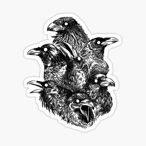 Raven pattern 2 Sticker