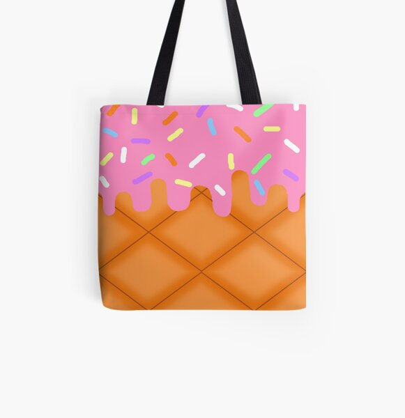Strawberry Ice Cream All Over Print Tote Bag