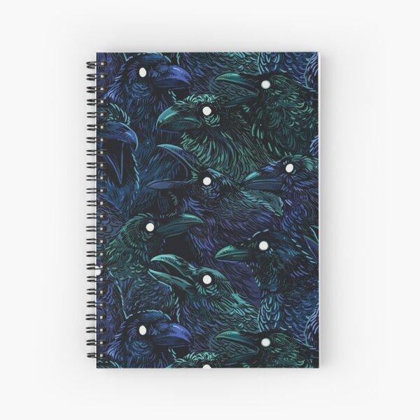 Raven pattern Spiral Notebook