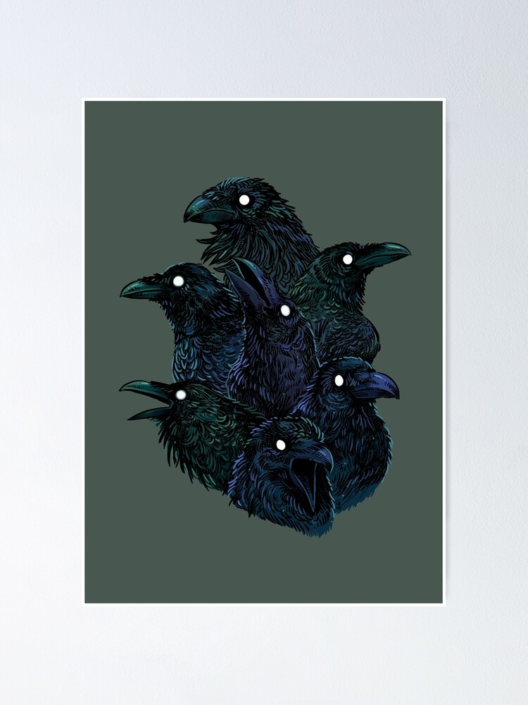 Alternate view of Raven pattern Poster