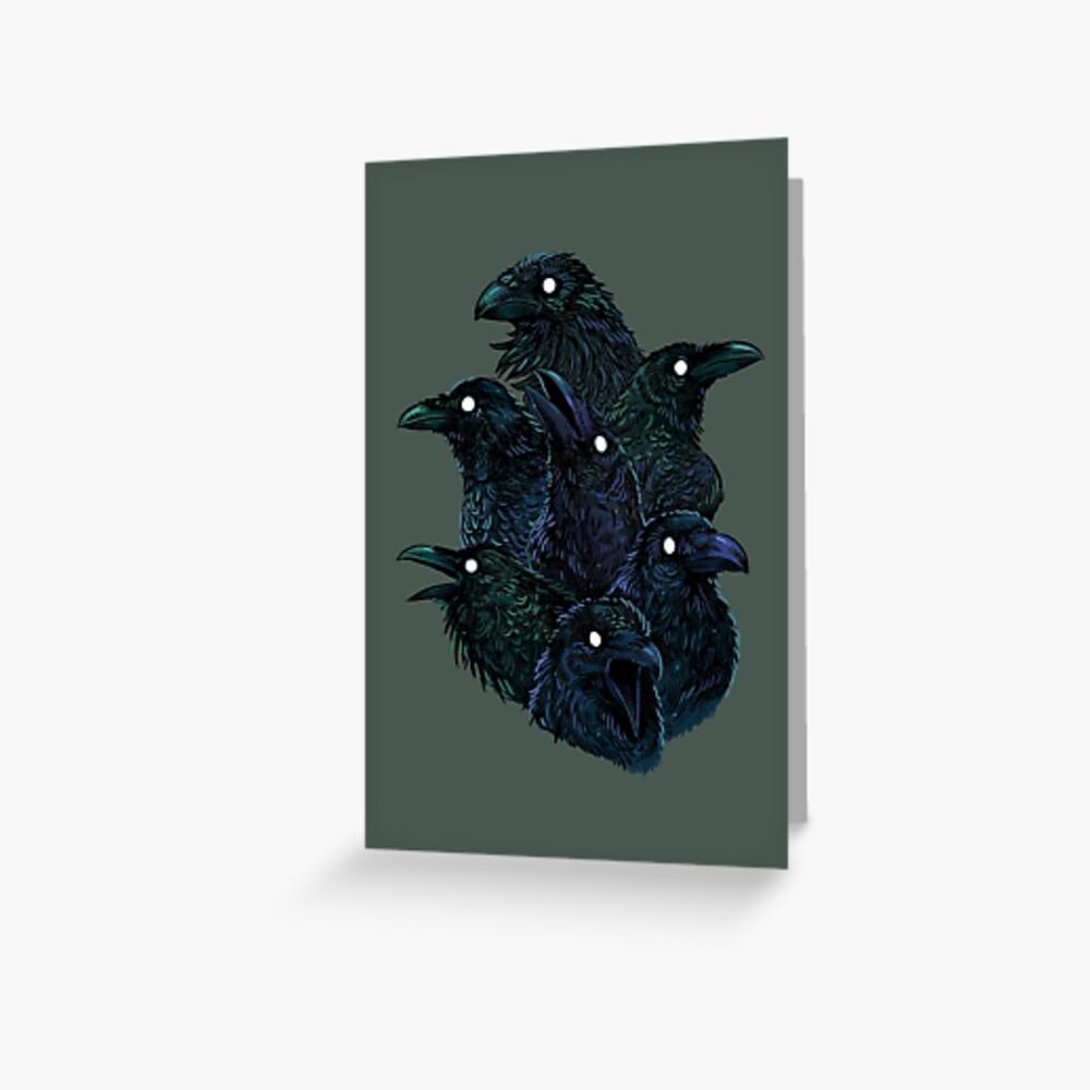 Raven pattern Greeting Card