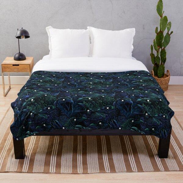 Raven pattern Throw Blanket