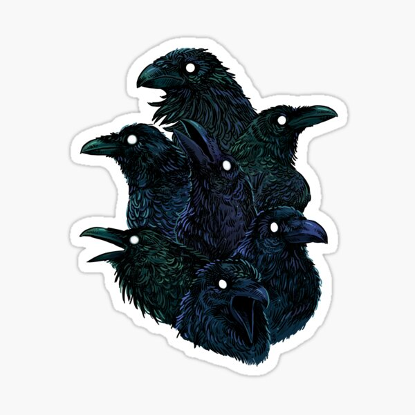 Raven pattern Sticker