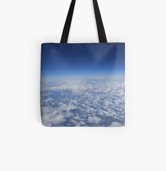 Clouds All Over Print Tote Bag