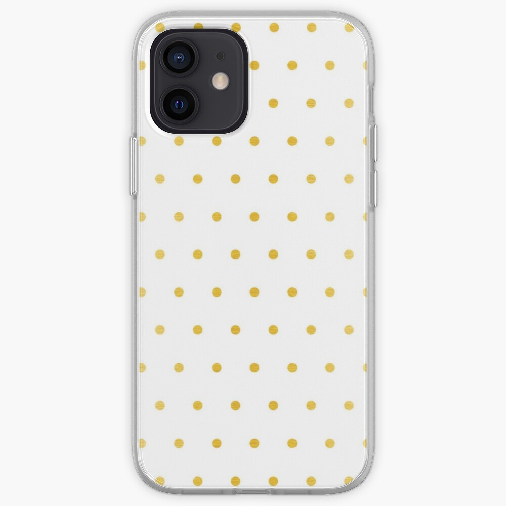 gold foil dot pattern iPhone Case & Cover