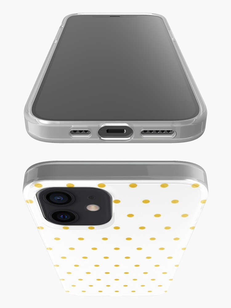 Alternate view of gold foil dot pattern iPhone Case & Cover