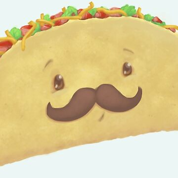 Taco Con Mustache by whiteicepanther