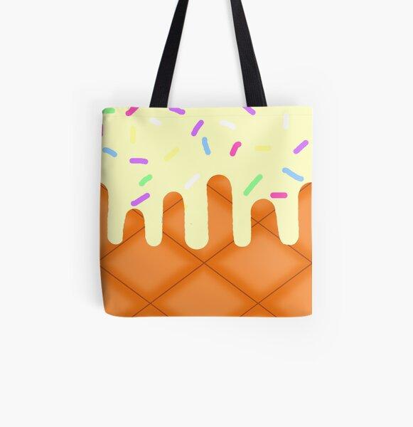Vanilla Ice Cream All Over Print Tote Bag