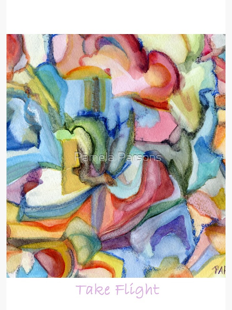 Take Flight. An abstract expressionist, watercolor painting about hopes, dreams and freedom. by parsonsp