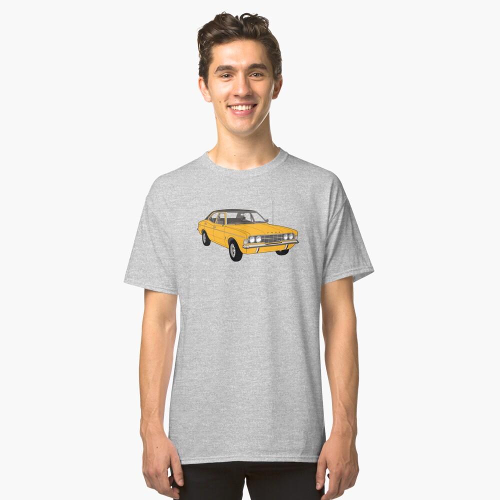 1972 Ford Cortina TC Mark III GXL - Amber paint (Fan Art Vector Drawing) Classic T-Shirt