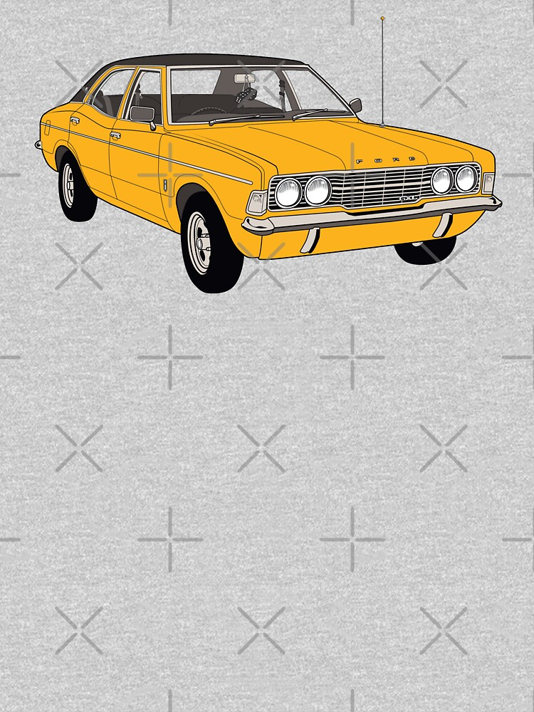 1972 Ford Cortina TC Mark III GXL - Amber paint (Fan Art Vector Drawing) by thedrumstick