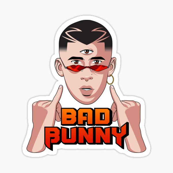 Bad Bunny Pinky Fingers Sticker By Liomal Redbubble