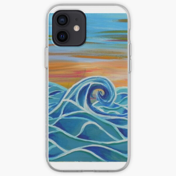 Peaceful Waves iPhone Soft Case