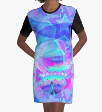 ST-Arclight Hologram Pattern Graphic T-Shirt Dress