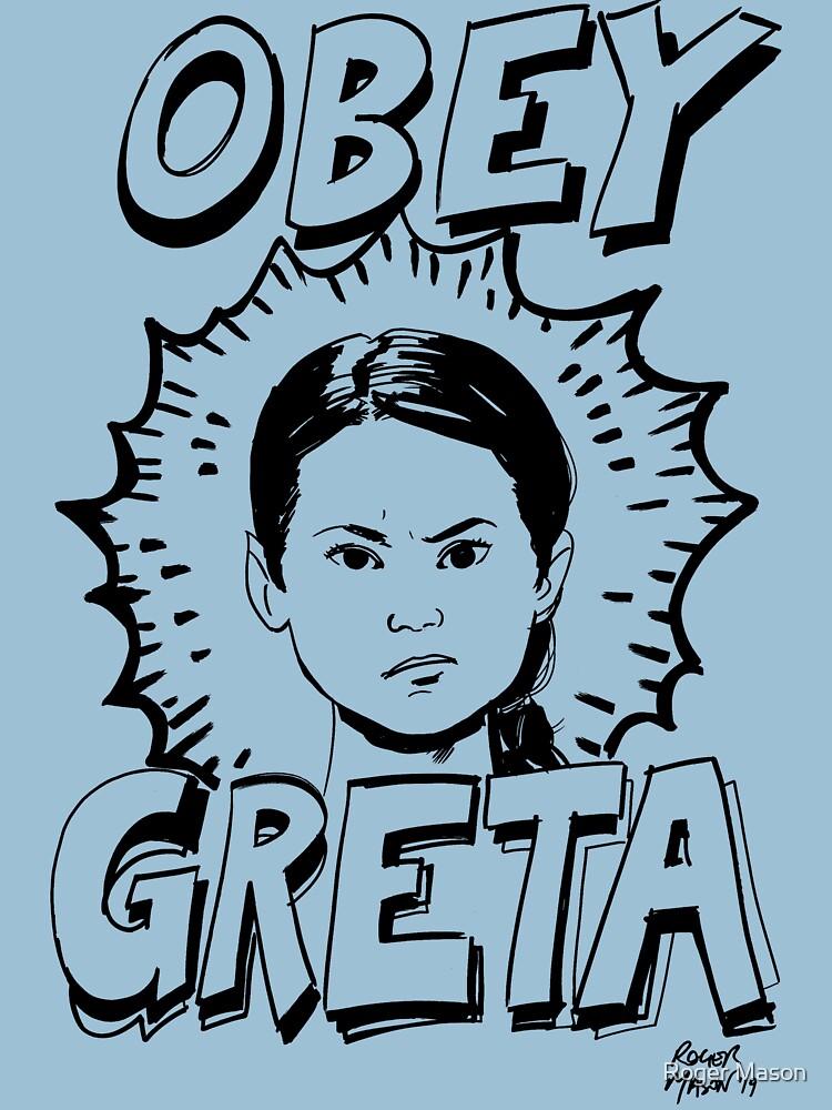 Greta Thunberg t-shirt by RogerMason