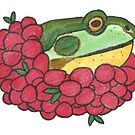 Frog and Cranberries it Must be Fall by Wild Green Memes Store