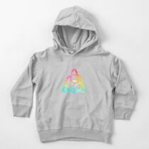 Charmed - Rainbow Power of Three Emblem (Black) Toddler Pullover Hoodie