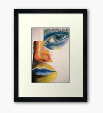 EYE NOSE MOUTH Framed Print