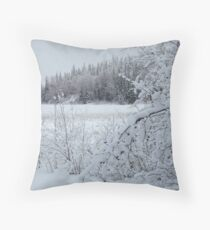 After the snowstorm Throw Pillow