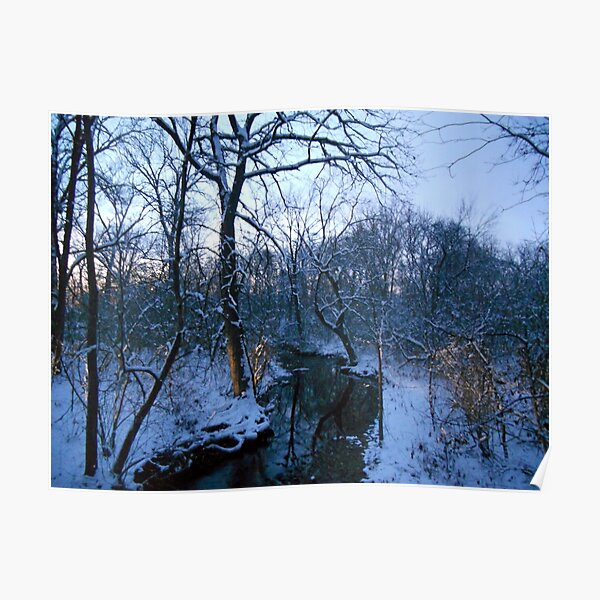 Winter Twilight at the Creek--Westward Poster