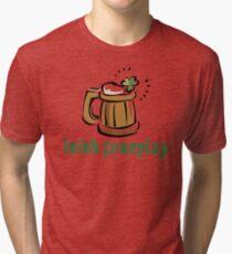 Funny Irish Foreplay Tri-blend T-Shirt