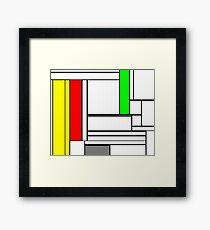 Faux Mondrian February Framed Print