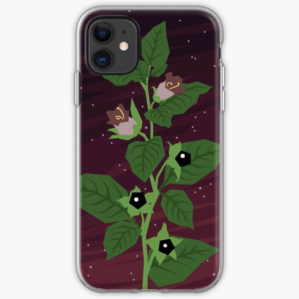 Deadly Nightshade iPhone Soft Case