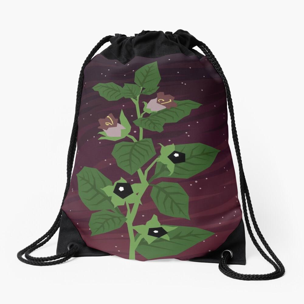 Deadly Nightshade Drawstring Bag