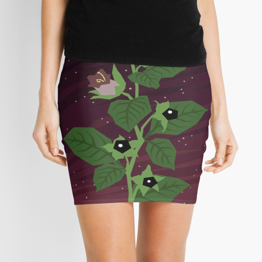 Deadly Nightshade Mini Skirt
