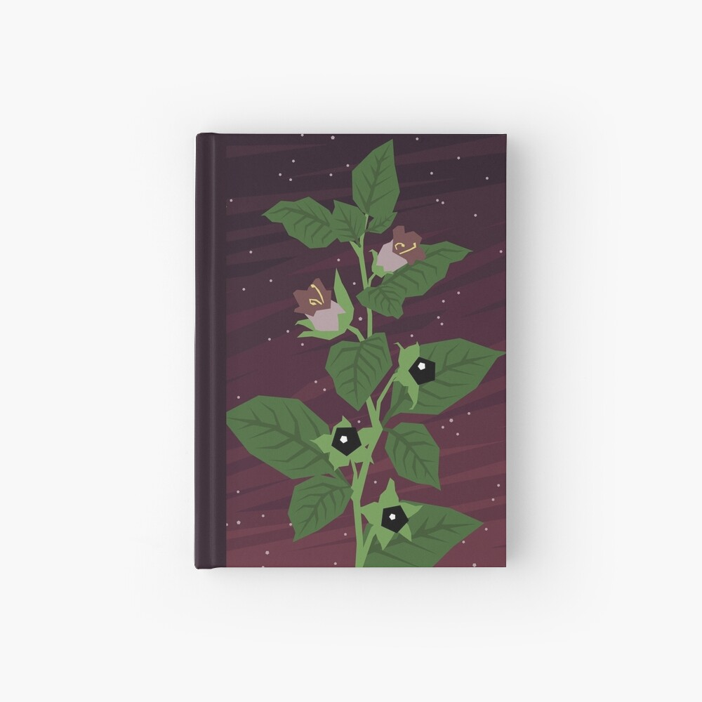 Deadly Nightshade Hardcover Journal