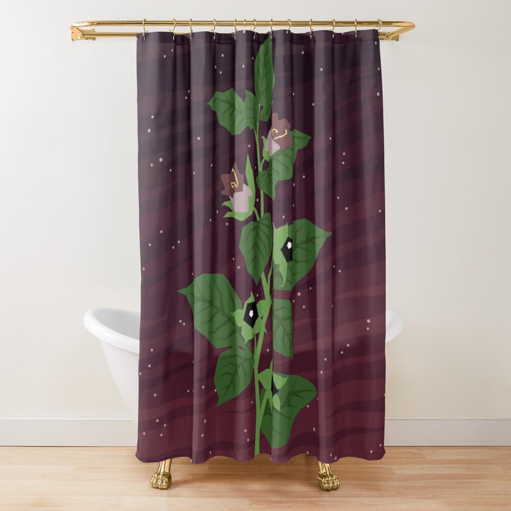 Deadly Nightshade Shower Curtain