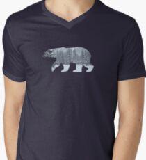 Polar Bear : silhouette Men's V-Neck T-Shirt