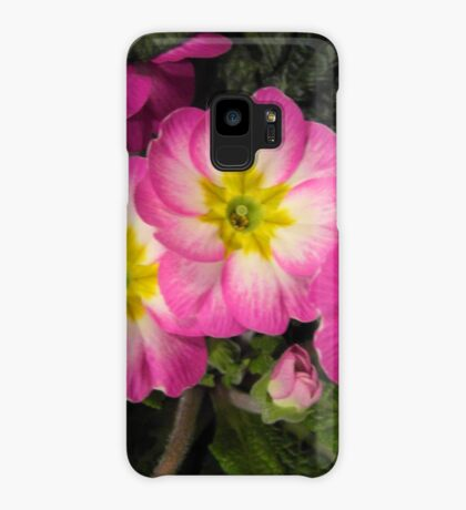 Pink Primulas  Case/Skin for Samsung Galaxy