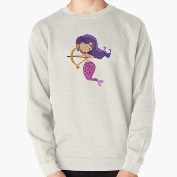 Sagittarius Zodiac Mermaid Pullover Sweatshirt