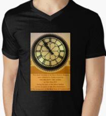 The Clock in the Plaza Men's V-Neck T-Shirt