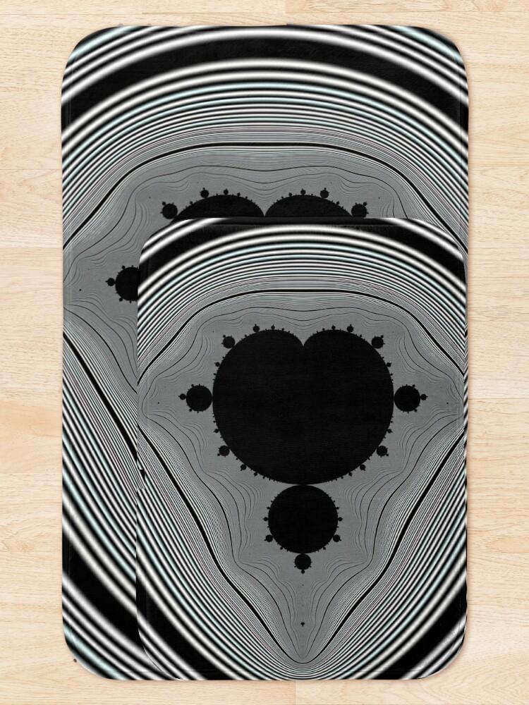 Alternate view of Copy of Monochrome Mandelbrot 20190430-006 Bath Mat