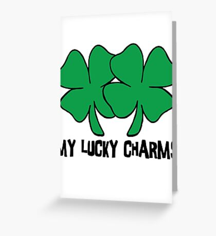 "Irish ""My Lucky Charms"" Women's Greeting Card"