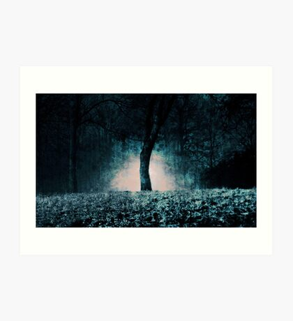In the fog which surrounded the trees... Art Print