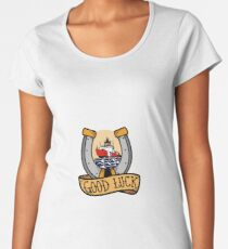 Coast Guard Good Luck - Polar Icebreaker Premium Scoop T-Shirt