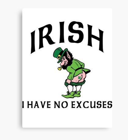 Funny Irish Canvas Print