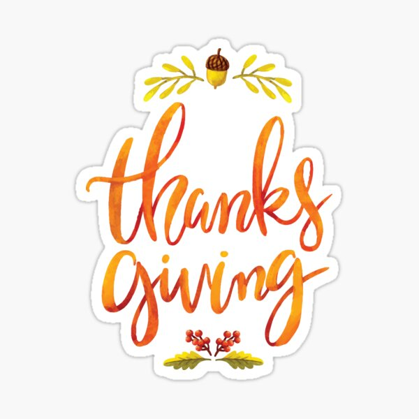 Thanks Giving Sticker