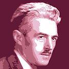 Dashiell Hammett Red Portrait von savantdesigns