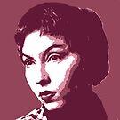 Clarice Lispector Red Portrait von savantdesigns